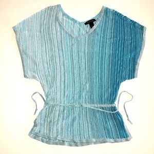 White House Black Market Tops - White House Black Market Blue Ombre Top Size Small